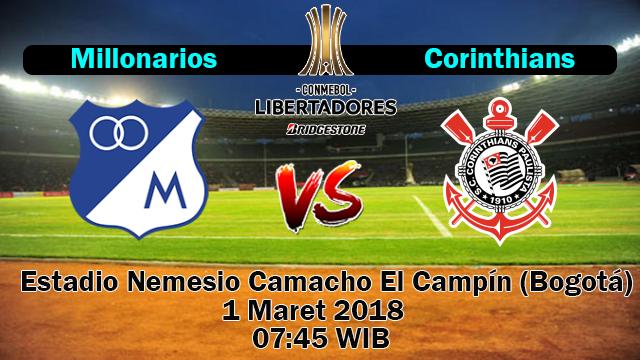Prediksi Skor Jitu Millonarios vs Corinthians