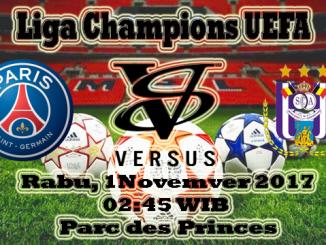 Prediksi Skor Bola Paris Saint Germain VS Anderlecht